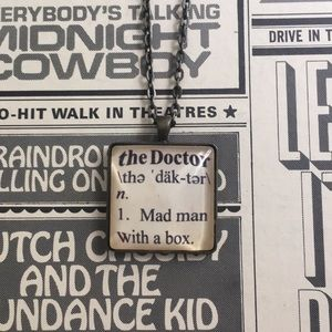 Hand made Doctor Who necklace